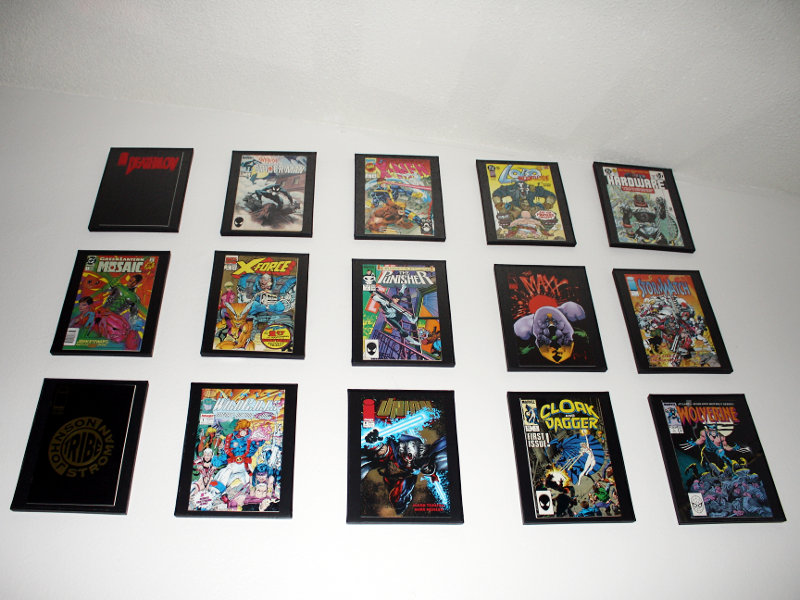 Comic Book Frame Wall x15