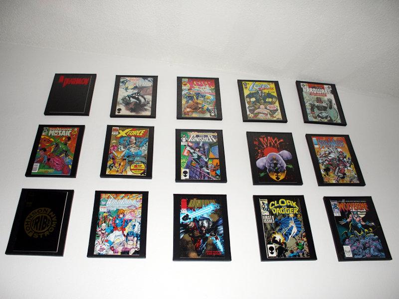Comic Book Frame Wall x15