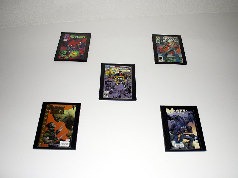 Comic Book Frame Wall x5